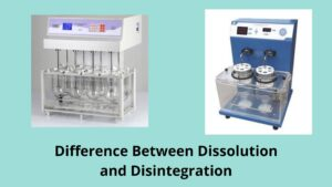 Difference between dissolution and disintegration