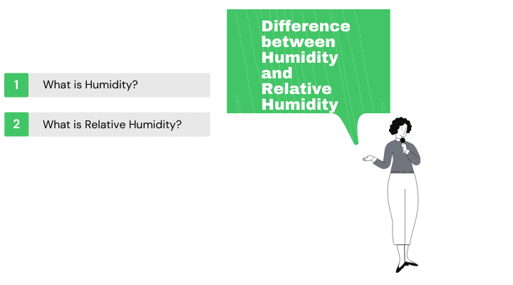difference between humidity and relative humidity
